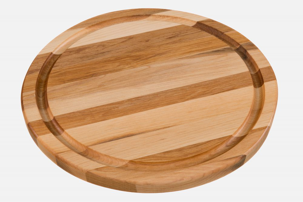 Round board with edge grain